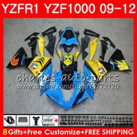 차체 용 YAMAHA YZF 1000 R 1 YZF-1000 YZF-R1 09 낙서 파란색 12 차체 85NO5 YZF1000 YZFR1 09 10 11 12 YZF R1 2009 2010 2011 2012 페어링