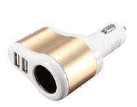 3 in 1 Dual USB Ports Aluminium Auto Ladegerät Zigarettenanzünder Power Socket Adapter Universal für iPhone 7 Samsung S7 HTC Blackberry