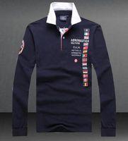 e037824cc4 Air Force One Camisas Polo Aeronautica Militare Exército T-Shirt de Manga  Longa dos homens
