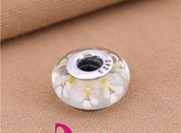 Adatto per bracciali Pandora autentiche Nuove perle PANDORA argento S925 perline fiore bianco gardenia Accessori