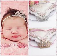 Корона ребёнка ободки Shine Алмазных Диадем Boutique Аксессуары для волос Симпатичных новорожденных винтажных кристаллов искрение ободки H081