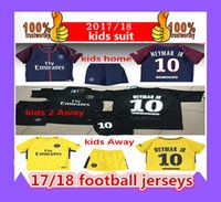 1718 kids Third black psg KITs neymar jr Soccer Sets home aw...