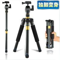 Toptan satış profesyonel kamera tripodları slr canon nikon monopod için taşınabilir seyahat fotoğrafçılık tripod
