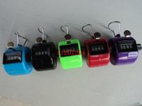 FEDEX DHL Livraison gratuite En Gros Coloré 4 Chiffres Numéro Compteur À Main En Plastique Pour Golf Sport, 50pcs / lot