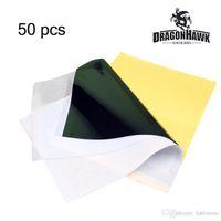 Haute qualité 50 pcs Tattoo Transfer Paper 4 couche Stencil Carbone Thermique Traçage Hectographe prix usine WS011