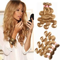 Reine Farbe # 2 # 4 # 27 # 30 # 99J Peruanische Reine Haarbündel Honig Blonde Körperwelle Haar Spinnt Menschenhaar Extensions