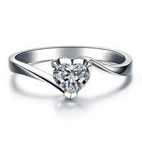 100% 925 plata esterlina Venta caliente 18K chapado en oro 1 ct SONA anillos de compromiso de diamantes simulados, anillo de plata esterlina para mujer anillo