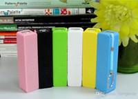 향수 2600mAh 휴대용 전원 은행 컬러 혼합 외부 USB / 마이크로 USB 호스트 배터리 전원 은행 samsung S4 / s3 iphone5 / 4 589