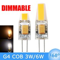 DHL Free Wholesales Dimmable G4 LED Lamp 6W COB LED Bulb DC ...