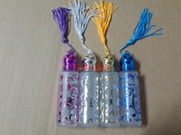 Livraison gratuite 10ml Bronzing bouteille de parfum en verre rouleau rechargeable sur des bouteilles avec bille roulante, 500pcs / lot
