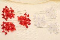 Luksusowy 2015 Biały / Czerwony Koraliki Wysokiej Jakości Piękna Pearl Flower Wedding Bridall Flora Tiaras Akcesoria do włosów Headpiece TS00018A