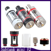 Kangertech Subtank Mini V-2 Atomizer Black White SS Color Kanger Sub Ohm Tank Vertical Japanese Cotton Coil 0266014
