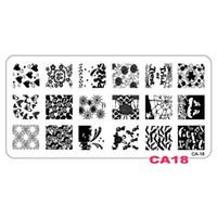 DIY 이미지 12x6cm CA 시리즈 스탬프 플레이트 패션 네일 아트 템플릿 스텐실 살롱 뷰티 폴리싱 도구