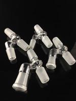 Adaptador hembra en ángulo de narguiles que incluye cuatro diseños de 14 mm18mm de dos tamaños y diseño de juntas masculinas