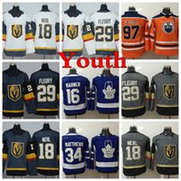 Chandails de hockey AD YOUTH 2018 29 Marc-André Fleury 18 James Neal 97 Connor McDavid 34 Auston Matthews 16