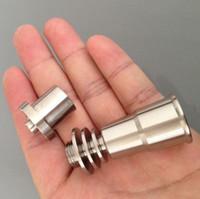 16mm Einstellbare Titannagel Werkzeug Set Glas Bong Domeless GR2 Titannagel mit Carb Cap Dabber Werkzeug Slicone Jar Dab Container
