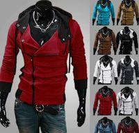 O ENVIO GRATUITO de Creed 3 Assassin's Desmond Miles Moletom Com Capuz Top Casaco Jaqueta Traje Cosplay, assassins creed estilo Com Capuz casaco de lã, @ dds