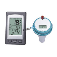 Wireless Indoor and Outdoor Swimming Pool Spa Hot Tub Scoop Thermometer Water Temperature Guage with alarm clock function Pool