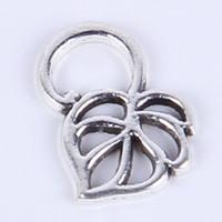 античное серебро / бронза ретро лист DIY ювелирные изделия кулон fit ожерелье Шарм 1000 шт. / лот 036