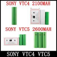 Venda mais quente VTC4 VTC5 Bateria 18650 US18650 Li-on Bateria 2100 mah 2600 mAh / 3.7 V / 30A fit Todos Os Cigarros Eletrônicos Mods Freeshipping