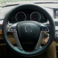 Car covers Carcasa para HONDA ACCORD 8 Fundas para volante de cuero Carcasa especial para vehículo DIY Puntada a mano Car styling Tapa de dirección