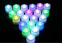 Decoración de la fiesta del año nuevo Regalo del año nuevo Regalo color de la noche Luz luminiscente vela color de la vela