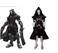 Popular game SHOW cosplay black Gabriel Reyes Reaper cosplay...