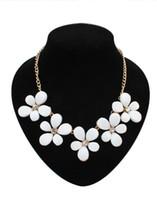 Fashion New Floral Halsreifen Erklärung Halsketten Europäischen Übertrieben Schmuck Zubehör Blumen Schlüsselbein Kragen Kette Anhänger Frauen Mädchen
