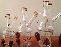 2016 Cheech Glass Cheechaccino Cheech Cup Dabuccino rig cheech Sandblasted Cup Rig Mini Glass Hookah Bongs