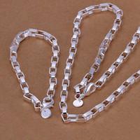 Fabrika fiyat en quaility 925 ayar gümüş jewery setleri kolye bilezik bileklik küpe yüzük ücretsiz kargo SMTS126