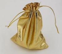 تنزيلات حاره ! الذهب احباط الأورجانزا الزفاف الإحسان هدية حقيبة الحقيبة حزمة المجوهرات 11x16 سنتيمتر / 13x18 سنتيمتر (364)