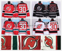 2016 Новый, Новый Джерси Дьяволов Хоккей # 30 Martin Brodeur Джерси Красный Белый Черный Цифровой Камуфляж Дешевый Martin Brodeur Jersey