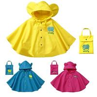 1-6 yaşında moda unisex su geçirmez çocuk boys kız tulum yağmurluk kapşonlu Tek Parça Karikatür Kapüşonlu çocuk Yağmurluk Takım
