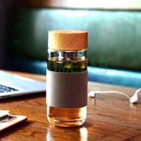 2018 النمط الأوروبي 400 ملليلتر زجاج زجاجة المياه مع الشاي infuser مصفاة مقاومة للحرارة السفر سيارة مكتب زجاجات الشرب أكواب ZA16