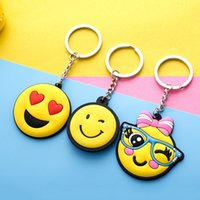 Car Key Ring Compact pratique bande dessinée Emoji Keychain Pendentif Mignon Facile à transporter Keys Buckle Factory Direct 0 5mk B