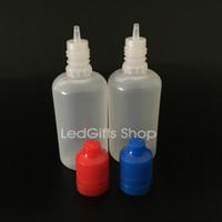 변조 아이 증거 모자, 긴 얇은 팁, 변조 childproof 캡 50ML PE 전자 액체 병 높은 품질 50ML의 PE 드롭퍼 병