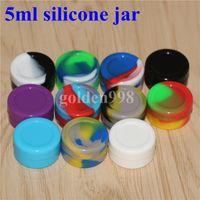 Contenants de cire antiadhésifs Boîte de silicone Contenant de silicium de 5 ml