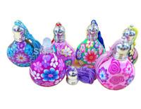 100 pçs / lote 10 ml 1/3 oz frascos de perfume com rolo na bola perfume frasco de argila do polímero vazio garrafa de óleo essencial