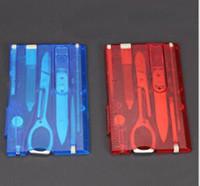 Открытый кемпинг красоты инструменты Швейцария карты нож с светодиодный свет Multifuntion карты нож