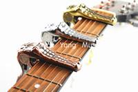 Alice A007G Guitare Crocodile métal Capo Clamp acoustique guitare électrique Or / Argent / Bronze Livraison gratuite Wholesales