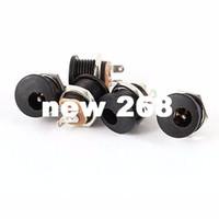 Cuivre 180 Degrés 5.5mm 2.1mm DC Prise d'alimentation 3 broches socket PCB Panel Connecteur adaptateur de montage