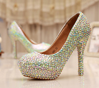 Cinderella Crystal Shoes Nightclub High Heel Platform Shoes ...