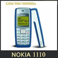Дешевые отремонтированы 1110 Оригинал разблокирован Nokia 1110i сотовый телефон Dualband классический GSM сотовый телефон 1 год гарантии