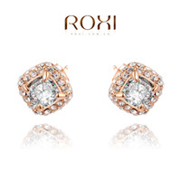 015 ROXI Free Shipping Christmas luxury Earrings, rose gold g...