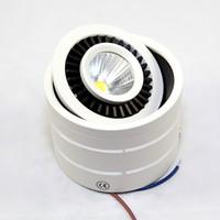 Dimmerabile LED COB Chip Soffitto LED Downlight 3W 5W 7W 15W 360 gradi Rotanti 85-260V WW / CW Montaggio a plafone Illuminazione per interni