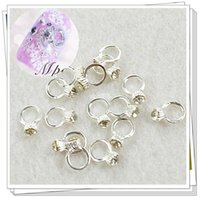 20pcs 3D Metal Nail Art Alloy Charm Ring with Rhinestones DI...