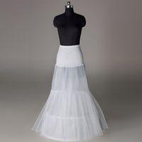 جديد الأناقة حورية البحر الزفاف تنورات غمد اثنين من الأطواق اللباس زلة 2T اثنين من طبقات فستان الزفاف ثوب نسائي القرينول قماش طول 1M