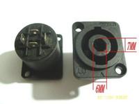 50 piezas Speakon de 4 pines Hembra Jack Compatible Audio Cable conector Negro