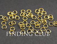 500 PC 4mm 5mm 6mm 골드 도금 오픈 Jumprings 점프 반지 - 반지를 DIY 공급 보석 액세서리