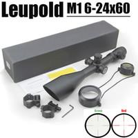 Прицел Leupold MARK 4 M1 6-24x60 мм с винтовой мельницей с подсветкой красного и зеленого цвета поставляется с парой 20-мм рельсовых креплений